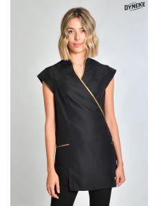 Estola kimono negra vivo dorado