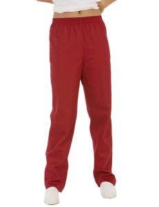 pantalon unisex sanidad, estetica y comercio rojo rojo dyneke
