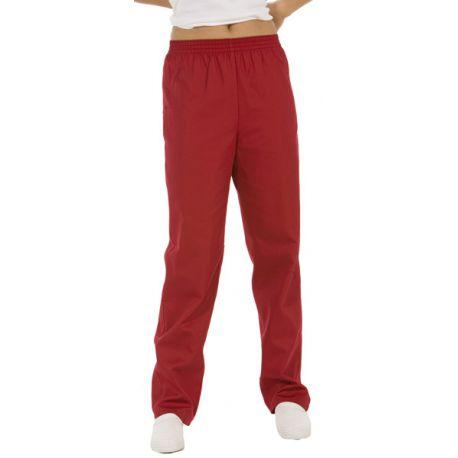 pantalon unisex burdeos sanidad, estetica y comercio dyneke