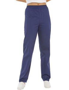 pantalon unisex sanidad, estetica y comercio rojo azul dyneke