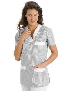 Chaqueta de pijama gris para servicios y limpieza Dyneke