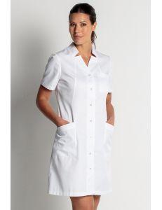 Bata larga para mujer en manga corta