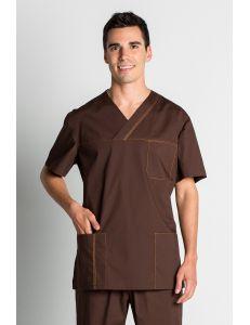 Casaca sanidad marrón caballero manga corta Dyneke