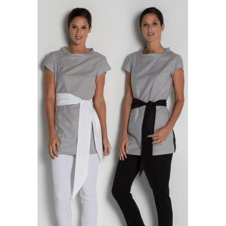 Casaca polivalente gris con cinturón Dyneke