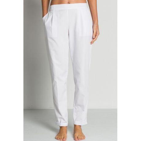 Pantalón blanco con dobladillo