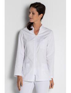 Chaqueta para comercio, sanidad y estética de manga larga blanca dyneke