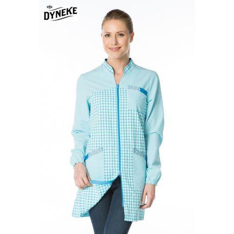 Bata profesora azul turquesa Dyneke