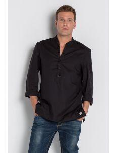 Camisa para hostelería y comercio estilo ibicenca