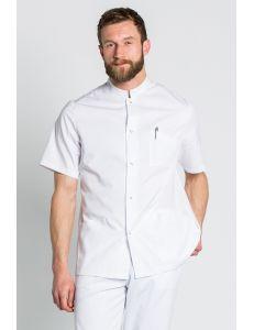 Chaqueta unisex blanca en manga corta
