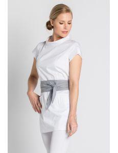 Casaca polivalente blanca con cinturón Dyneke