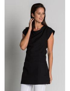 Estola para comercio y estética con cinturón negra dyneke