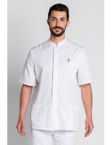 Chaqueta blanca en manga corta