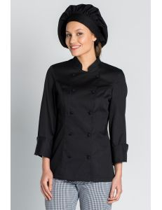 Chaqueta para chef en color negro