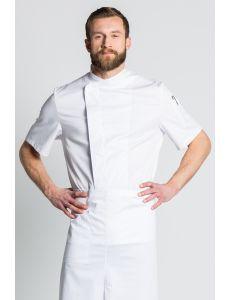Chaqueta de cocina de manga corta blanca