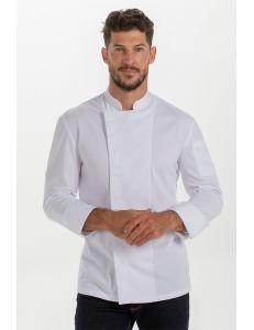 Chaqueta de cocina manga larga blanca