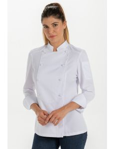 Chaqueta señora para hosteleria y comercio blanca dyneke