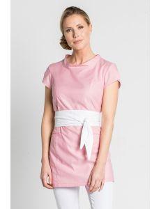 Casaca polivalente rosa con cinturón Dyneke