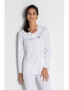 Chaqueta para comercio y estética blanca manga larga Dyneke
