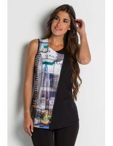Casaca estampada city comercio y estetica dynekeChaqueta para comercio y estética con estampado 'City' dyneke