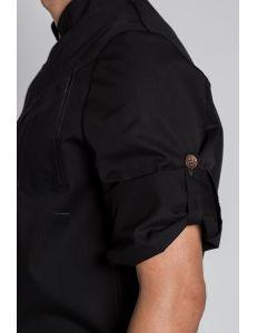 Chaqueta negra manga larga y pespuntes Dyneke