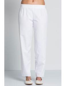 pantalon blanco sanidad y estetica de mujer dyneke