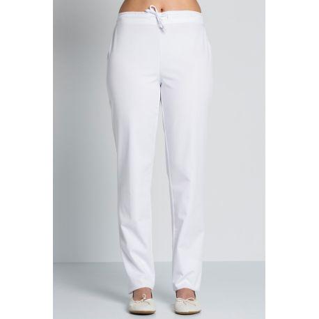 pantalon de mujer blanco para sanidad, comercio y estetica dyneke