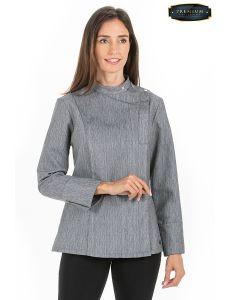 Chaqueta premium mujer gris