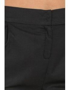 Pantalón tonillero negro con dobladillo