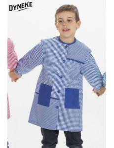 Bata escolar cuadro Azul