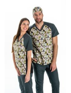 Pijama microfibra estampado caras