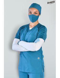 Pijama sanitario microfibra sport azul