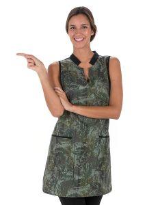 Estola verde estampado camuflaje
