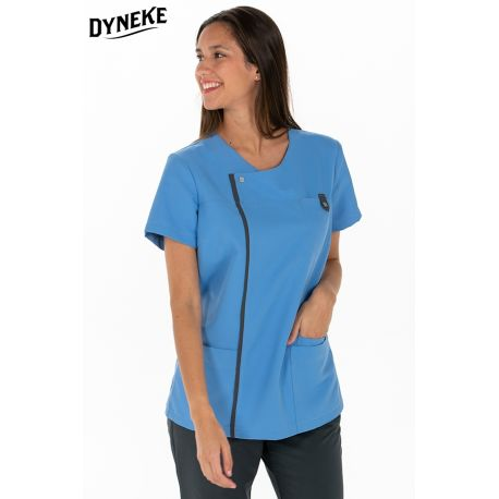 Casaca sanitaria azul de mujer Dyneke