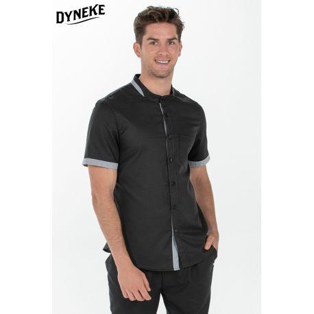 Camisa hombre negra c/mao