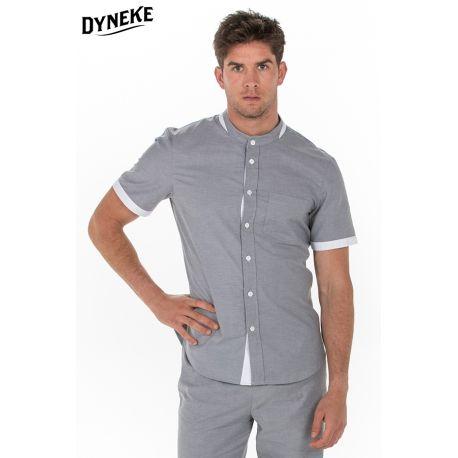 Camisa hombre gris c/mao