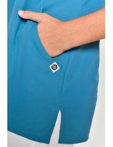 Casaca curvas microfibra azul