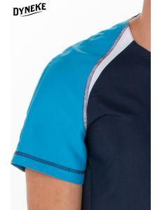 Chaqueta azul sanidad caballero microfibra