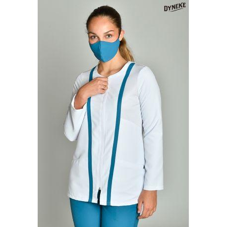Chaqueta microfibra m/l sport azul