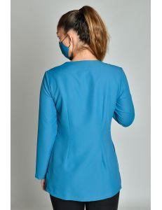 Chaqueta curvas m/l microfibra azul