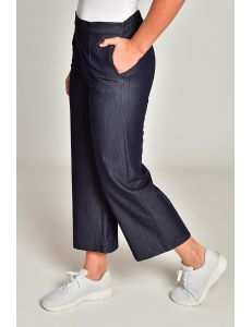 Pantalón culotte tejano
