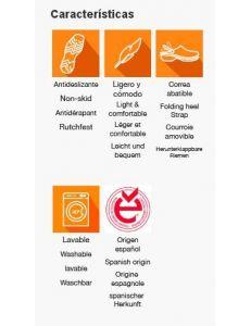 Zueco naranja Dian