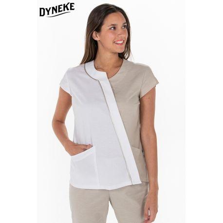 Chaqueta beig mujer para comercio y estética Dyneke