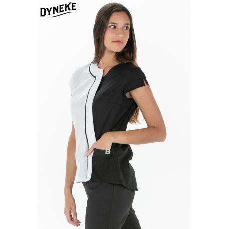 Chaqueta negra mujer para comercio y estética Dyneke