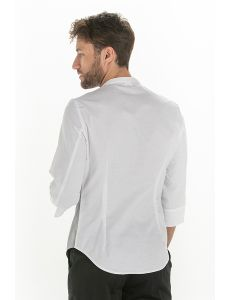 Camisa hombre manga 3/4 gris