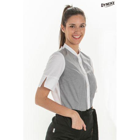 Camisa mujer manga 3/4 gris