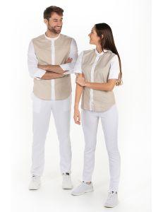 Camisa mujer manga 3/4 beige