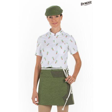 Delantal corto verde