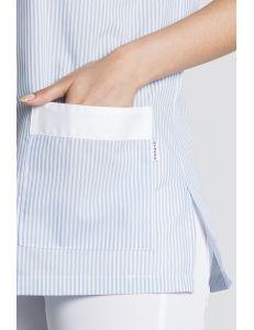 Chaqueta de pijama celeste para servicios y limpieza Dyneke