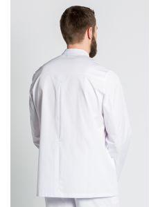 chaqueta blanca hombre manga larga con corchete sanidad y estetica dyneke