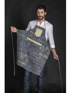 delantal tejano con letras dyneke